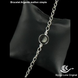 Bracelet Argenté Maillon simple